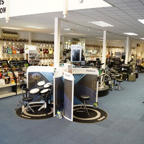 Our Rock'n'Roll floor dedicated to Electric Guitars, Amps, Drums, PA and Accessories.