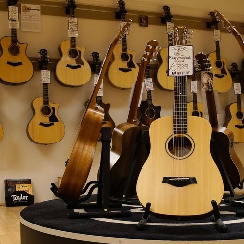Leading acoustic guitar brands including Taylor, Martin, Faith, Fender and more!