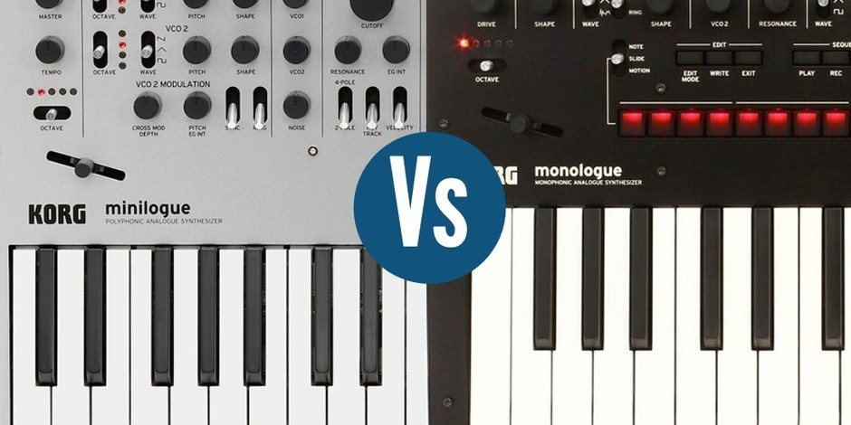 Korg Minilogue vs Monologue