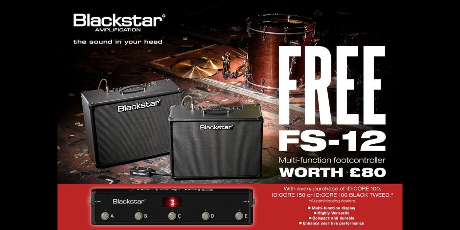 FREE FS-12 Footswitch with Blackstar Amps