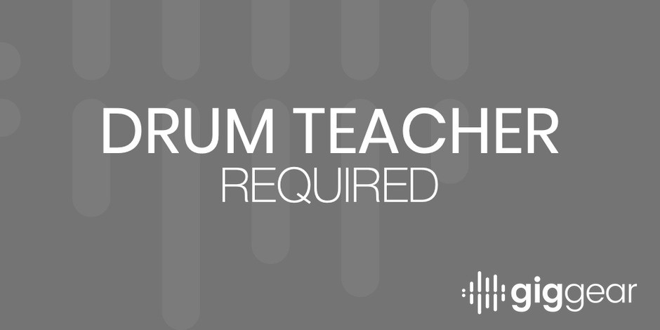 Drum teacher required